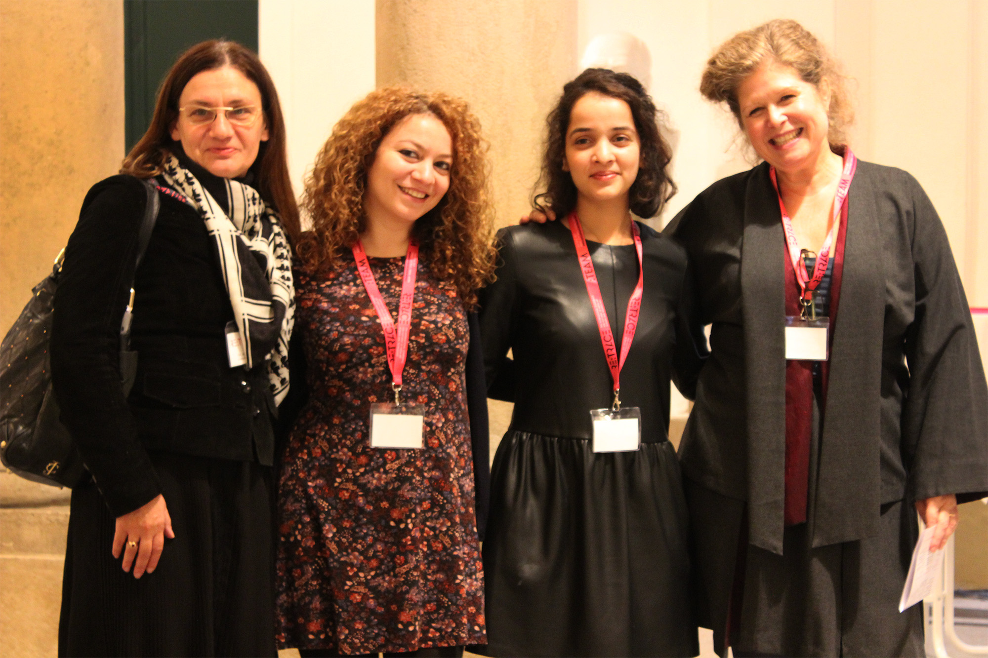 Media Arts Cultures professors and students: Ana Peraica, Gohar Vardyan, Alifiyah Imani, and Wendy Coones| Re:Trace | Day 3| Austrian Academy of Sciences Vienna