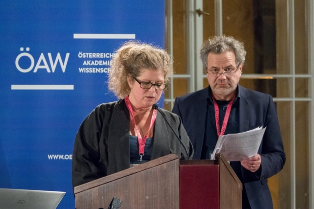 Wendy Coones and Oliver Grau | Re:Trace | Day 3| Austrian Academy of Sciences Vienna